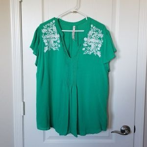 Green Melissa McCarthy Blouse